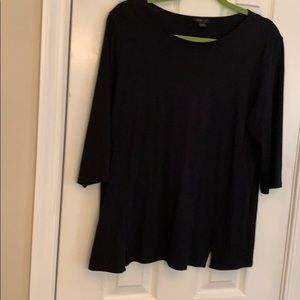 NWOT J Jill black shirt sleeve top SIZE  Med